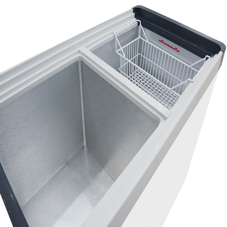 Glass Top Chest Deep Freezer For Commercial Display