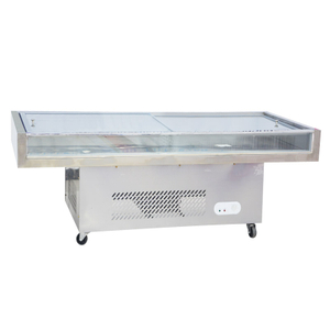 Single Temperature Frozen Seafood Cabnit Cooler Glass Door Freezer