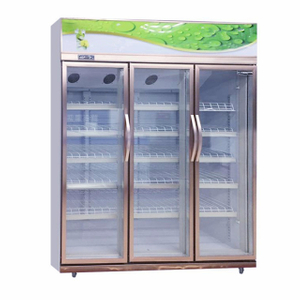 Convenience Store Luxury Rose Gold Pepsi Beverage Display Upright Showcase