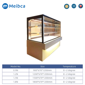 Commercial Cake Shop Back sliding Door Showcase Fridge