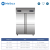 6 Doors Vertical Upright Commercial Kitchen Freezer